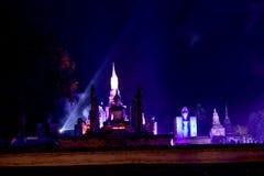 Exibição clara e de som no festival de Loy Krathong Imagem de Stock