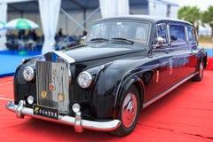 Exibição da exposição automóvel de Rolls royce imagens de stock