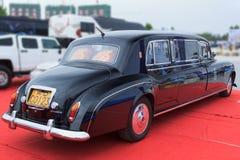 Exibição da exposição automóvel de Rolls royce fotografia de stock royalty free