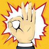 exibição da mão que tudo é bem ilustração do vetor