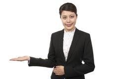 Exibição da mulher de negócio Imagem de Stock