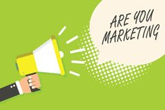 A exibição da nota da escrita é você mercado Ações apresentando da foto do negócio para promover vendas do produto do tipo no ann ilustração royalty free