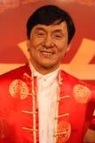 Exibição da senhora Tussauds do modelo de cera de Jackie Chan Fotografia de Stock