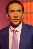Exibição de Nicolas Cage Waxwork Fotos de Stock