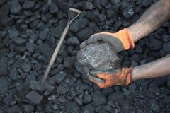 Exibição do mineiro de carvão fotos de stock