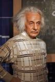 Exibição do modelo de cera de Albert Einstein Foto de Stock