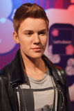 Exibição do modelo de cera de Justin Bieber Fotografia de Stock