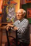 Exibição do modelo de cera de Pablo Picasso Fotos de Stock