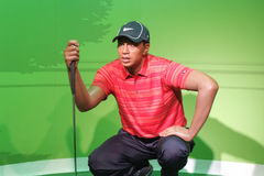 Exibição do modelo de cera de Tiger Woods Imagens de Stock
