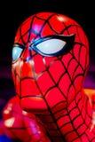 Exibição do modelo de cera do homem-aranha Fotografia de Stock