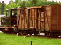 Exibição velha do trem da guerra Foto de Stock Royalty Free