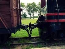 Exibição velha do trem da guerra Fotografia de Stock