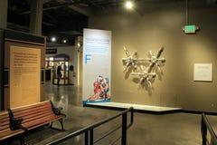Exibições brilhantes e coloridas no museu da indústria, Baltimore do centro, Maryland, 2017 fotografia de stock