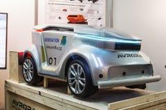 exibições na exposição dedicada ao connec das tecnologias Imagem de Stock