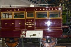 Exibições no museu Railway nacional em York, Yorkshire Inglaterra Imagem de Stock