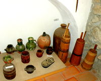 Exibits in the Museum of Tartlau (Prejmer) fortified church Royalty Free Stock Image