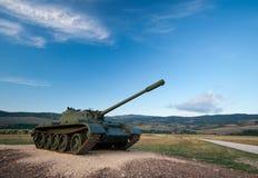 Exibiu um tanque T-55 Fotografia de Stock