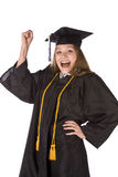 Exicited graduate Stock Image