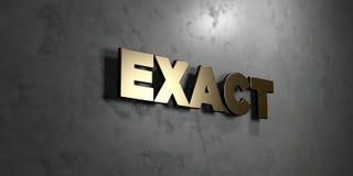 Exija - muestra del oro montada en la pared de mármol brillante - el ejemplo común libre rendido 3D de los derechos stock de ilustración