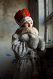 Exile of St Helena. Cold winter portrait Stock Photo