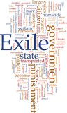 Exile word cloud Stock Photography
