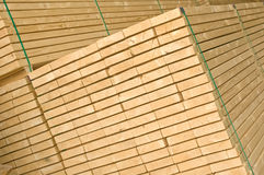 Existencias de la madera (visión angulosa) Fotos de archivo
