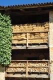 Existencias de la madera y del heno para el invierno Fotografía de archivo libre de regalías
