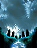 Existencias de las ondulaciones Ilustración del Vector