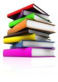 Existencias de los libros brillantes 01 Fotografía de archivo libre de regalías