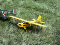 Existing models of aircraft. Royalty Free Stock Images