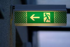 Exit. A buchler in green on a wall Royalty Free Stock Image