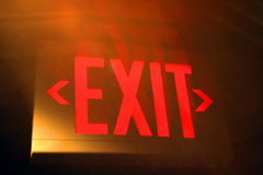 Exit. Sign stock image
