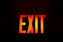 Exit. These glowing exit words are useful for a variety of purposes Stock Photos