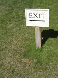 Exit. Sign at English country house stock image