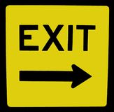 Exit. Sign stock images