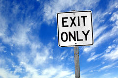 Exit only. Sign royalty free stock images