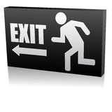 Exit. 3d vector illustration of emergency exit royalty free illustration