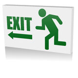 Exit. 3d vector illustration of emergency exit Royalty Free Stock Image