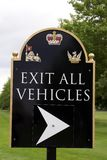 Exit All Vehicles sign Stock Images