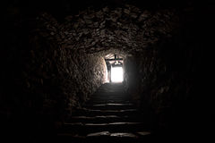 Ancient medieval dungeon Stock Photography