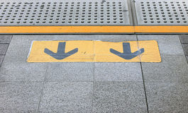 Exit Arrow. Sign on the sky-train station Royalty Free Stock Images