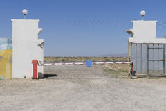 Exit and barrier Royalty Free Stock Photos