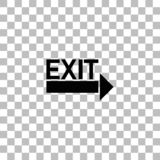 Exit icon flat. Exit. Black flat icon on a transparent background. Pictogram for your project royalty free illustration