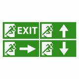Exit boarders collection isolated Royalty Free Stock Image