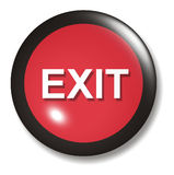 Exit Button Orb Royalty Free Stock Image