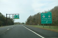 Exit 0 in Cape May Stock Photos