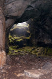 Exit from cave Stock Image