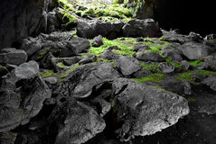 Exit from the cave. Royalty Free Stock Photo