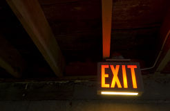 Exit from Dark Cellar Stock Photography
