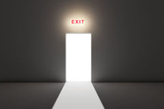 Exit the dark room Stock Image
